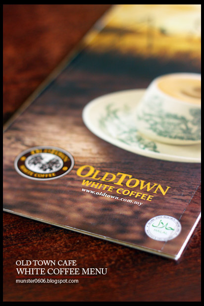 OLDTOWN White Coffee Menu