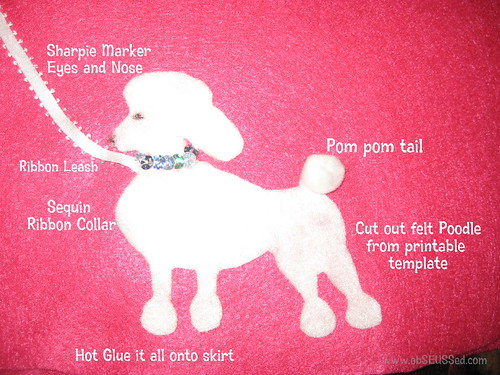 Poodle Template | Obseussed Make A No Sew Poodle Skirt
