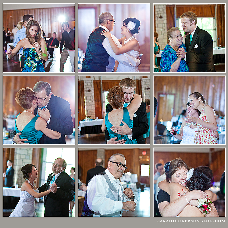 Lodge at Ironwoods Park wedding reception photographers