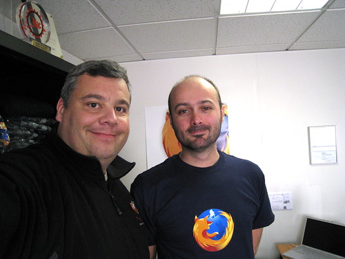 Luc Heinrich, développeur de Miro, avec votre serviteur