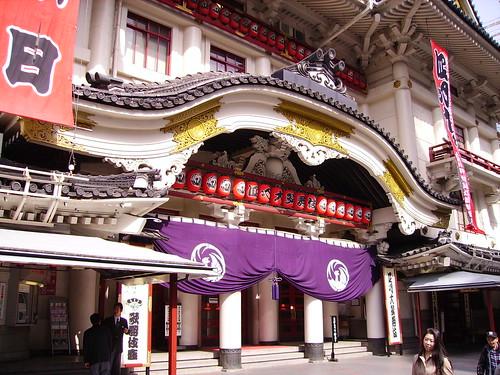 Japanese kabuki theatre - Tokyo by johnniewon