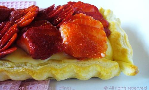 Torta de morangos com morangos