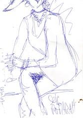 Realistic self-portrait (Luis Drayton) Tags: selfportrait art drag sketch drawing cartoon transgender tranny transvestite