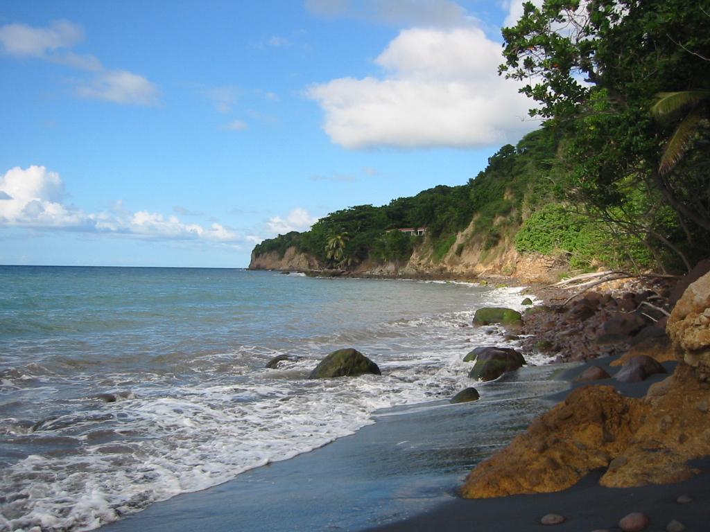Montserrat - black sand beach
