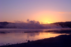 Rotorua sunrise (Light Knight) Tags: newzealand lake hot sunrise perfect rotorua photographer steam springs volcanic the amazingtalent mywinners diamondclassphotographer