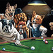 dogs playing poker22