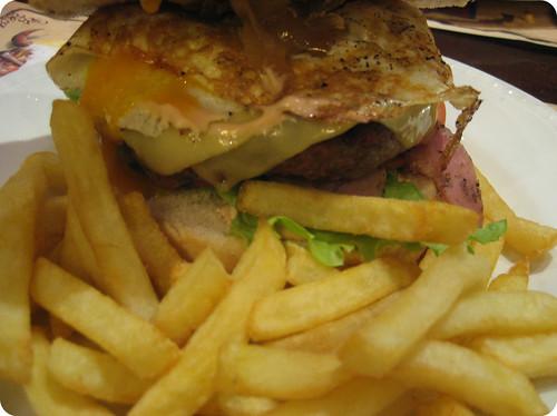 Foto de la hamburguesa especial