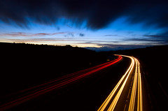 Traffic (Stu Worrall Photography) Tags: wales night long exposure traffic north cymru trails wfc a55 stuworrall