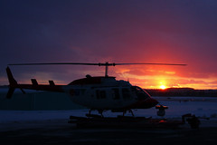 Helicopter Sunset (Tom Podolec) Tags: toronto ontario canada news television canon lens photography 1 fly flying is photo tv airport chopper long ranger angle bell aircraft aviation air 4 wide 206 craft helicopter gathering l blade mm usm helicopters dslr electronic 1785 efs longer blades heli spotting municipal eng markham hovering helo l4 rotor ctv wescam rotorcraft rotors f456 allrightsreserved ykz buttonville cfto 40d cfctv ctv1 news46 cykz torontobuttonvillemunicipalairport 200712121634520001 thisimagemaynotbeusedinanywaywithoutpriorpermission 20062008 canonefs1785mmf456isusmwideanglelens