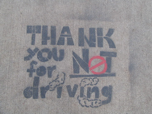 Thank you for NOT driving por vj_pdx.
