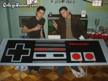 nintendo beer pong table