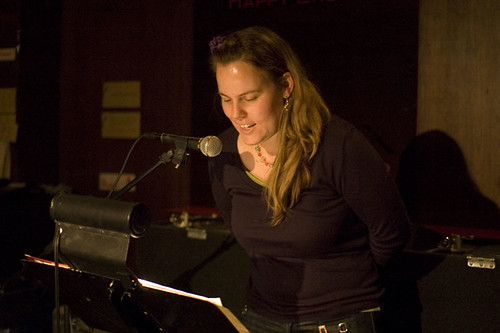 Molly X reads erotic haiku at In The Flesh