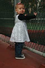 Another Photoshoot! (Meet The O'Connors) Tags: dress photoshoot converse 16months tenniscourt