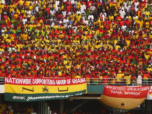 Colourful fans at the African Cup of Nations - a preview of the crowds at next year\'s World Cup in South Africa.