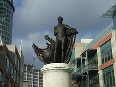 Vice-Admiral Horatio Nelson (Long Road Photography (formerly Aff)) Tags: sky cloud statue birmingham fuji nelson finepix hero westmidlands bullring birminghamuk lordnelson admiralnelson horationelson trafalagar s6500fd s6000 project3652008