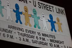Adams Morgan - U Street Link bus sign