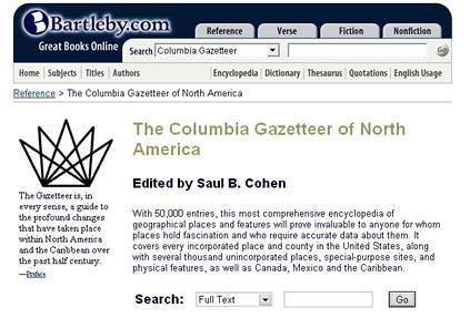 Columbia Gazetteer