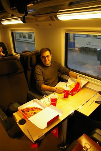 First Class en el tren
