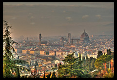 Our Florence Postcard (! .  Angela Lobefaro . !) Tags: trip travel sunset vacation italy nature topf25 leaves topv111 buildings florence interestingness bravo italia tramonto quality patterns postcard religion sigma wideangle explore cielo tuscany nubes linux firenze christianity toscana 2008 toscane 70 frontpage ubuntu idyllic grandangolo allrightsreserved cartolina coucherdesoleil italians florenz superwideangle kubuntu digikam atardercer sigma1020 explored i500 cesvi 28189 natuzzi eos400d anawesomeshot qtpfsgui angiereal diamondclassphotographer maxgreco angelalobefaro angelamlobefaro supergrandangolo wwwcesviorg atacer angelamarialobefaro massimilianogreco