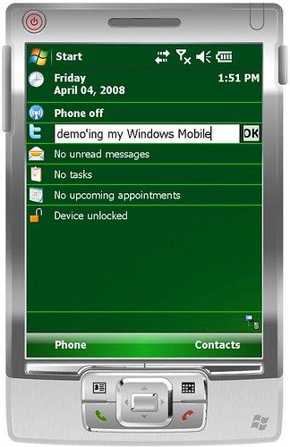 Twitter client for Windows Mobile