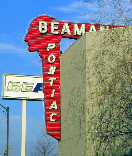old Beaman Pontiac sign