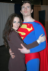 Lois Lane and Superman. Now you see why he doesn't date Wonder Woman.
