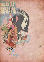 Paralaura60s (laprisamata) Tags: old pink blue woman sexy art fashion collage modern design women arte pop retro 60 sixties cartel yeye 60s sesenta laprisamata prisamata