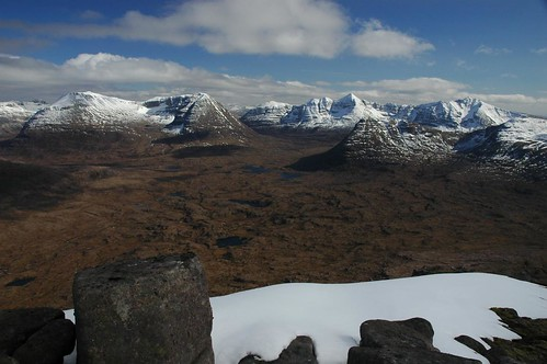The Northern slopes of the Torridon hills from Beinn an Eoin