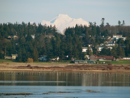 Mt. Baker from Keystone on Whidbey