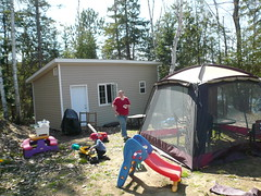 Adrian and Geoffrey on Opening Day at the Cottage (DNAMichaud) Tags: cottage adrian geoffrey openingday