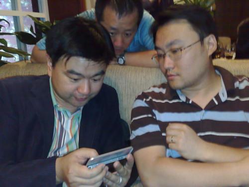 Mobile Interner Browser - 05-18 - (15) 邹岭 Lerry(城市联盟 CEO)屠一新 Allan(点讯 CEO) and 杨宇欣 Rock(ARM BD经理)