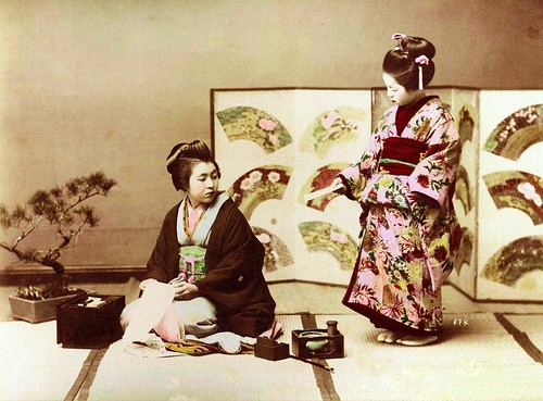 GEISHA AND MAIKO -- A Study in Kimonos and Relationships in Old Japan