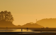 Sunset lighthouse (Marnie Recker) Tags: sunset surfing tofino