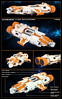 Aleginator Class Battlecruiser (thire5) Tags: lego space ship microspacetopia mini microscale starship spaceship cruiser destroyer photo border text