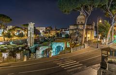 Foro di Cesare (aurlien.leroch) Tags: europe forodicesare rome italie italia italy night cityscape nikon d7100 longexposure colisée