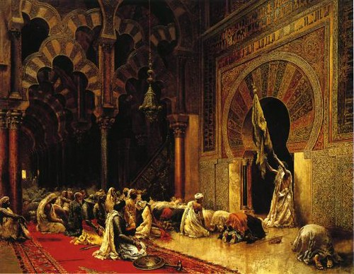Interior of the mosque at Cordova. Edwin Lord Weeks