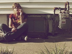 I'm taking it back to the old school... (mcatx) Tags: woman window colors girl grass female vintage outside colorful cigarette smoke cement smoking sidewalk jeans converse tiedye multicolored chucks laces chucktaylors shoelaces basementwindow womansmoking girlsmoking tiedyeshirt blackconverse femalesmoking