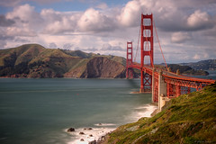 Golden Gate Bridge (Jay Tankersley Photography) Tags: ocean california city bridge sunset seascape storm clouds golden bay coast gate san francisco long exposure afternoon pacific marin windy area headlands sausalito