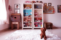 the dollhouse room today (girl enchanted) Tags: red ikea toy toys dolls bears collections poodle pinocchio collectibles toypoodle toyroom 4monthsold poodlepuppy dollroom redpoodle pinochan