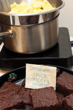 spiced black bean brownies