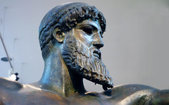 Artemision Zeus or Poseidon (detail of head), c. 460 B.C.E.