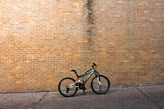 mongoose (xgray) Tags: morning brick bike bicycle wall digital upload canon austin eos university texas bricks universityoftexas iphoto bikerack mongoose 40d jestercenter xgrayvision2007