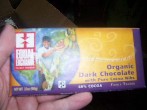Organic Chocolate with cocoa nibs