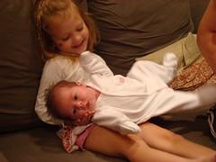 Ada, 3; Sadie, 3 weeks