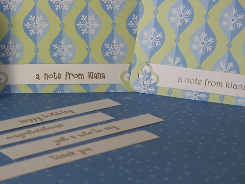 cards with changeable tags