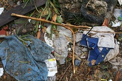 clothing trash (www.elliebrown.com) Tags: city urban signs philadelphia trash documentary fences pa kensington detritus waste dumping