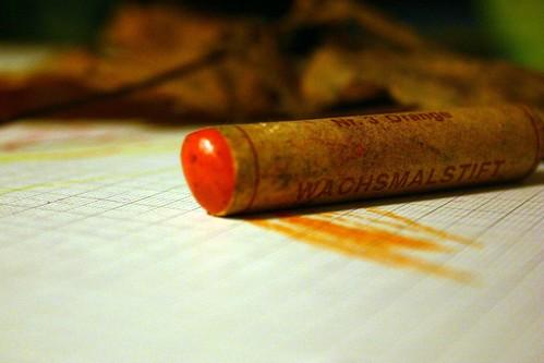 Orange crayon II