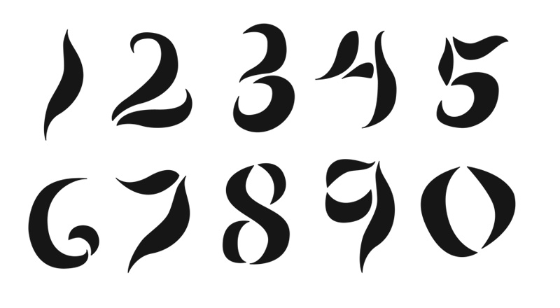 Numeral font