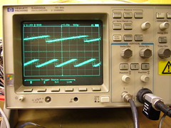 SID2SID SID waveforms on oscilloscope