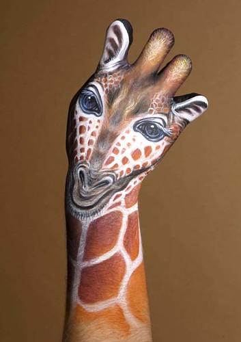 Hand Painted Giraffe